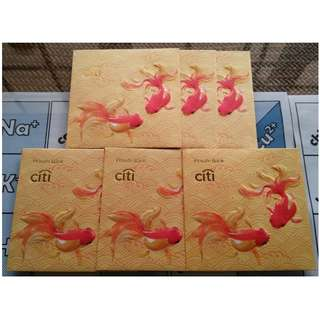6 pcs Citi Private Bank Goldfish Red Packet / Ang Pow Bao Pau Pao