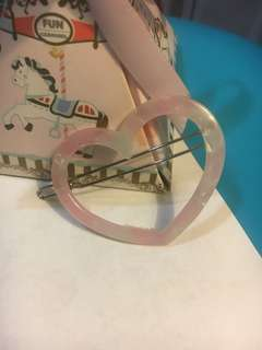 粉紅色心型頭飾
