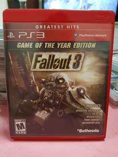 PS3 Game- (fallout 3)