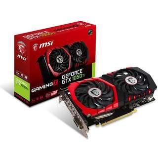 MSI GeForce GTX 1050 Ti GAMING X 4GB GDDR5