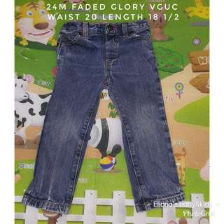24m faded glory pants