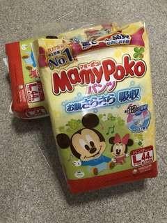 Mamy Poko Mickey Mouse Pants Diapers L size - 2 packet set