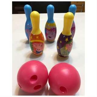 佩佩豬保齡球玩具,實品拍攝,現貨