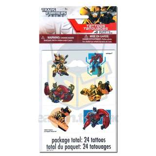 💥 Transformers theme party supplies - kids tattoos