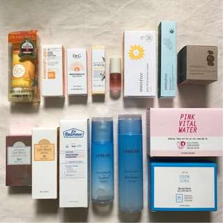(🔥CLEARANCE) KOREAN SKINCARE PRODUCTS - Laneige, Innisfree, CNP, The Face Shop, Etude House, MISSHA, BEYOND, Dr.g, SCINIC