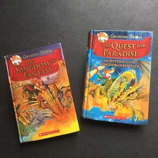 4 Geronimo Stilton Story Books