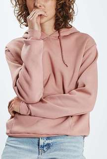 Topshop pink hoodie