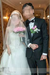 Vera Wang feel short veil elegant 短頭紗 簡約 襯婚紗 pre wedding