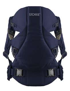 (Brand new) Stokke® MyCarrier™ Front and Back Baby Carrier in Deep Blue