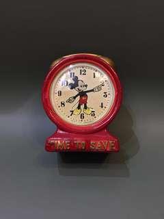 1970 年代 Disney 正版古董米奇鐘 刻意做出破爛感覺 Made in Hongkong 13cm高 香港製造 $380