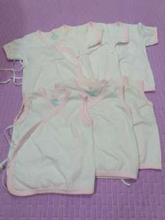 6 pcs New Baby Tieside Tops