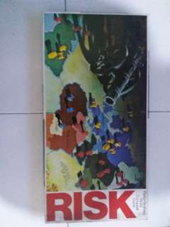 Vintage 1980 Risk Parker Brother World Conquest Board Game一盒