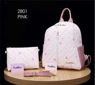 Carlo Rino Backpack Pink Color