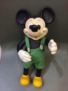1970 年代 Disney 正版古董米奇 Made in Taiwan 37cm高 $880