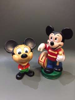 1970 年代 Disney 正版古董米奇 1對出售 Made in Hongkong 17cm高 & 22cm高 $880