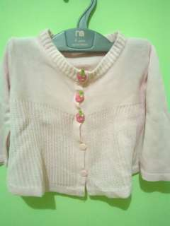 Cardigan baby bahan wool fit to 3-6m