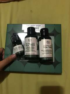The body shop tea tree trial kit travel size
