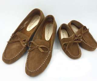 Father and son top sider shoes