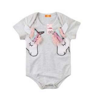0-24 months baby unicorn Romper