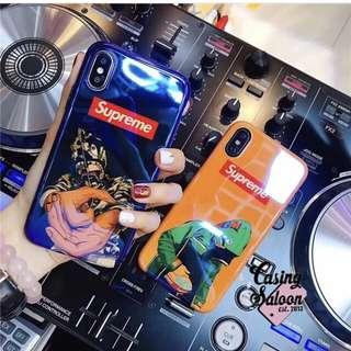 Bape x Supreme Blue Light Case Collection
