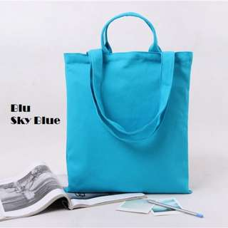 Blu Canvas Tote Bag