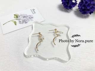 $100/6款首飾任揀➕包平郵📮扭紋珍珠耳環