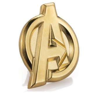 Avengers Gilt Insignia Lapel Pin 24k Gold