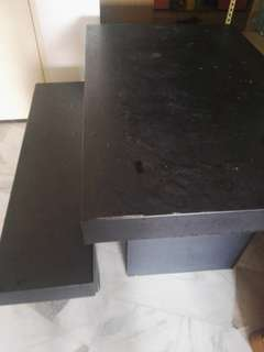 Dining table 4 ft with a 2 seater bench