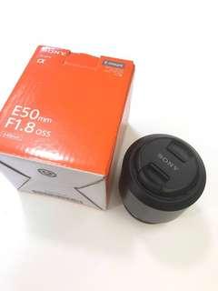 9成新Sony SEL50F18 E 50mm F1.8 OSS連Zeiss Lens protector