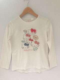 ZARA KIDS Long Sleeve Tshirt Hello Kitty
