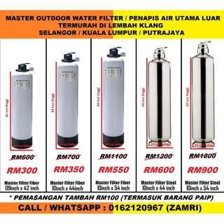 water filter outdoor master with installation / penapis air utama luar rumah siap pasang di BANDAR BUKIT TINGGI SELANGOR (ZAMRI WATER FILTER)