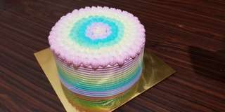 Fruit Flavor Rainbow Cake