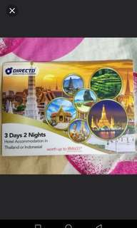 3 days 2 nights Thailand or Indonesia Hotel
