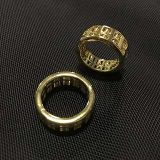 Gold Abacus Ring
