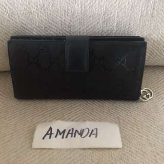 Gucci leather zip wallet