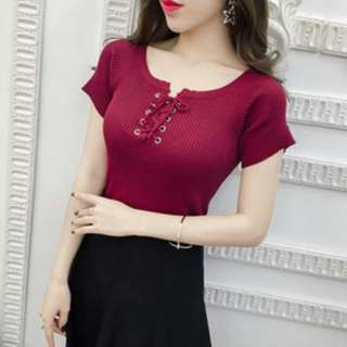 Knitted Cotton Blouse
