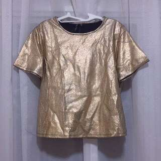 Cotton On Rose Gold sparkle design top