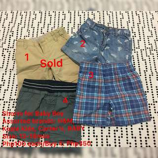 Shorts (Assorted Brands) for Baby Boys