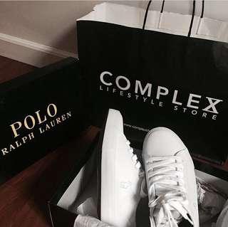 Ralph Lauren Triple White Shoes