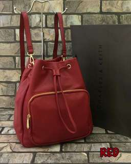 Charles & Keith Backpack Red