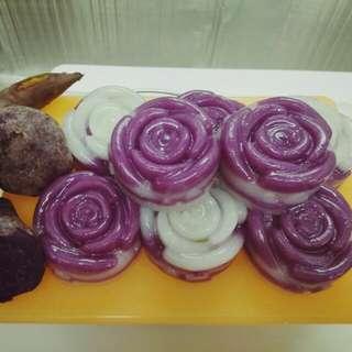 紫薯椰汁糕🍠餡(玫瑰型)8個裝