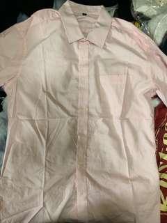 100%new 粉紅直間短袖恤衫