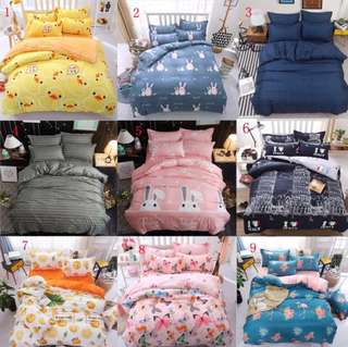 3pcs Single fitted include duvet cover bedsheets