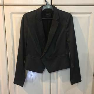 G2000 Woman Cropped Dark Gray Blazer