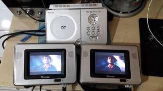 cars headrest DVD player