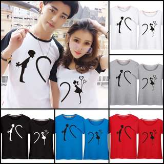 Couple Matching Wear Printed Tees / T-Shirts / Tops / Clothes