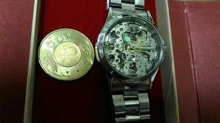 鱷魚縷空機械錶,鱷魚機械錶,機械錶,手錶,女錶,男錶,中性錶,鐘錶,錶~corcodile鱷魚縷空機械錶(功能正常,時間準確)