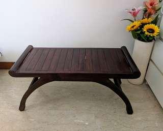 Balinese Oak Side Table/Bench