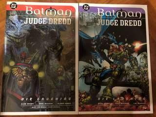batman judge dredd die laughing book 1 and 2 1998