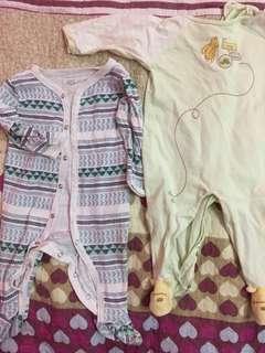 Pyjamas coverall jumpsuit baju tidur